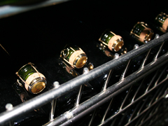 Ridgeview bottles in cage