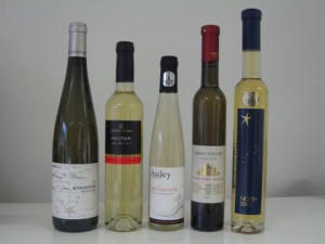 Dessert wines from Knightor, Chapel Down, Astley, Three Choirs and Eglantine