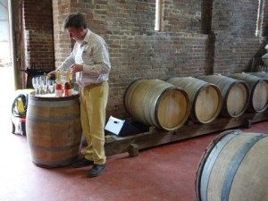 Justin Langham conducts a tasting at his eponymous estate in Dorset