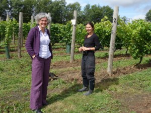 Rebecca and Claire at Bardfield Vineyard