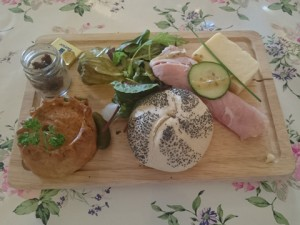 Ploughmans Lunch at Chilford Hall