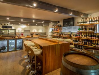The smart tasting room and cellar door at Kingscote