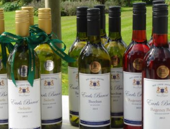 Wines from New Lodge Vineyard in Northamptonshire